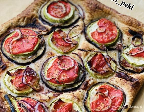 Ленивая пицца на слоеном тесте