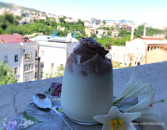 Дальгона с какао и сливками