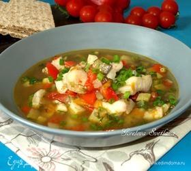 Суп с пангасиусом и овощами