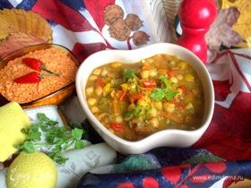 Суп из нута и чечевицы