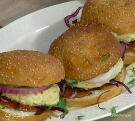 Пряные куриные бургеры в индийском стиле