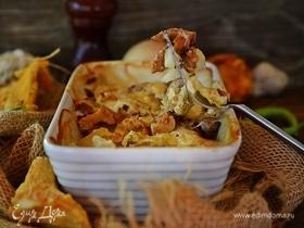 Лисички в сливках с картофелем и сыром