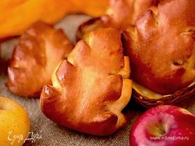 Булочки «Листики» с яблочной начинкой