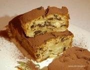 Осенний кекс с грушами и шоколадом