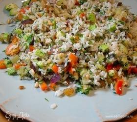 Теплый рисовый салат «Конфетти»